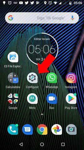 Configurações / Opções Android