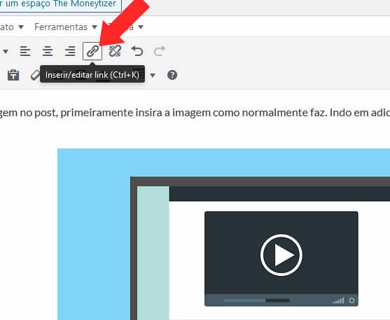 Ícone Para Inserir Links no WordPress