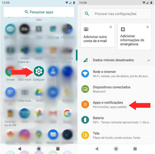 Voltando Notificações de SMS Android