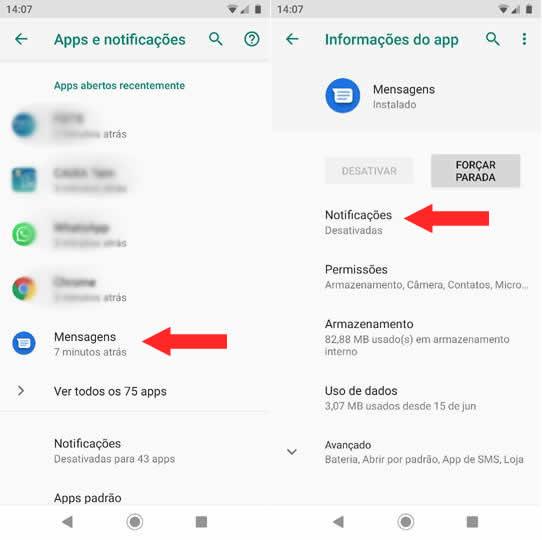 Gerenciador de APPs Android