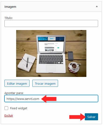 Link em Imagem no Widget
