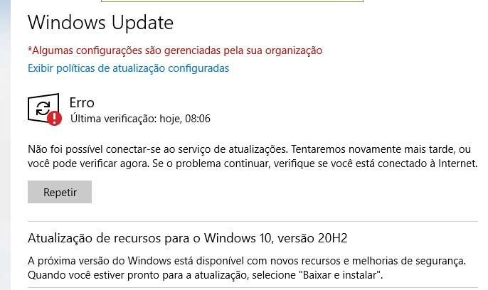Erro do Windows Update