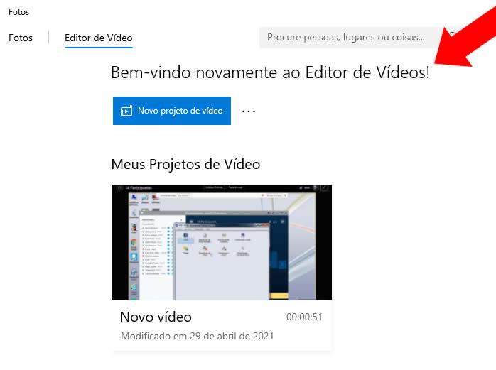Editor de Vídeos do Windows 10